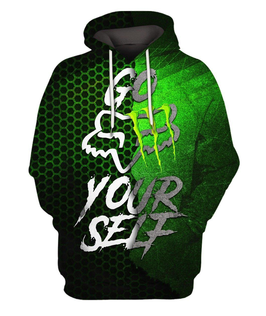 Go Yourself Fox Racing Monster Energy Green Black Full 3d 3d Graphic Printed Tshirt Hoodie Up To 5xl