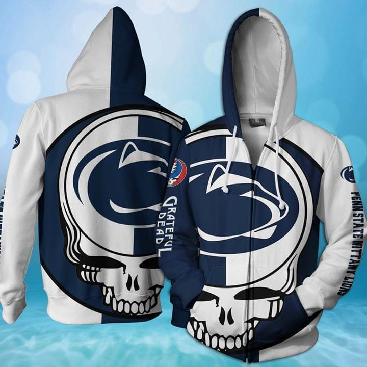 Grateful Dead Penn State Nittany Lions Bolt Skull 3d Printed Zip Hoodie 3d 3d Graphic Printed Tshirt Hoodie Up To 5xl
