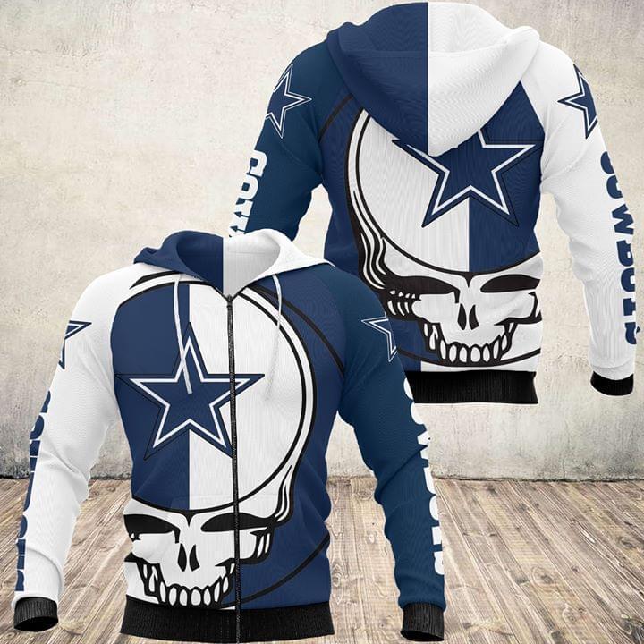 Grateful Dead Skull Dallas Cowboys 3d Printed Zip Hoodie 3d 3d Graphic Printed Tshirt Hoodie Up To 5xl
