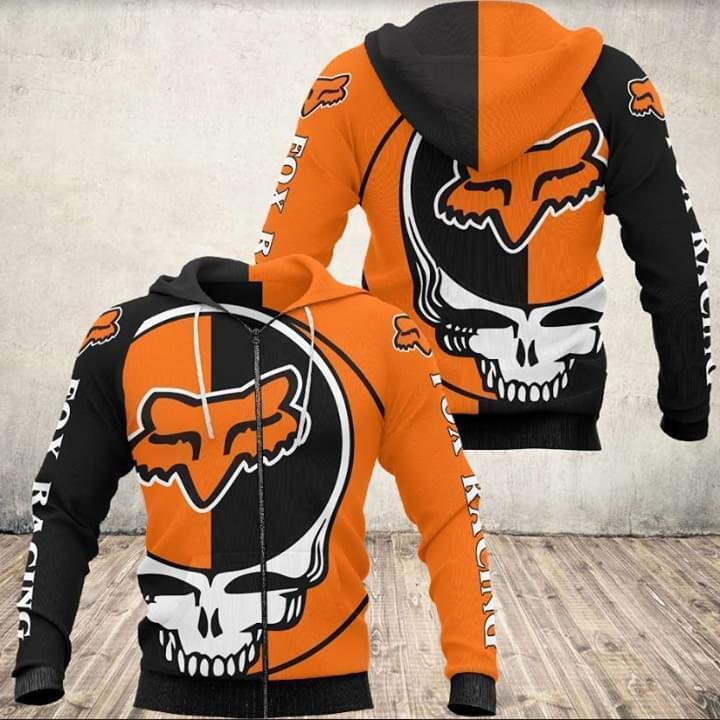 Grateful Dead Skull Racing Fox 3d Printed Zip Hoodie 3d 3d Graphic Printed Tshirt Hoodie Up To 5xl