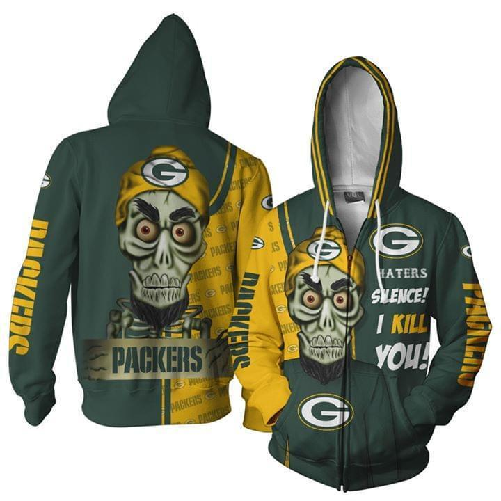 Green Bay Packer Hater Silence I Kill You Achmed 3d Zip Hoodie Zip Hoodie 3d 3d Graphic Printed Tshirt Hoodie Up To 5xl