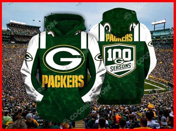 Green Bay Packers 100 Seasons Nfl 3d Printed Hoodie 3d 3d Graphic Printed Tshirt Hoodie Up To 5xl
