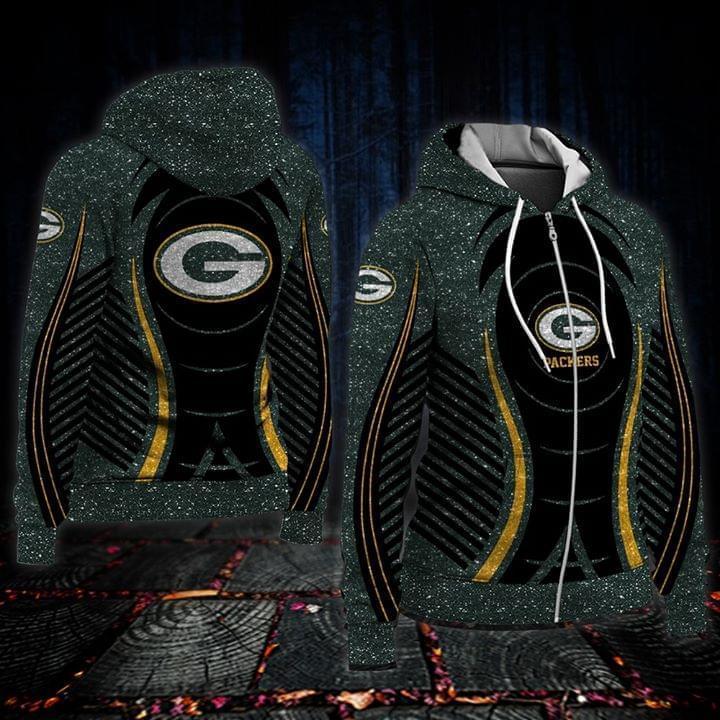 Green Bay Packers Fan 3d Zip Hoodie 3d Graphic Printed Tshirt Hoodie Up To 5xl