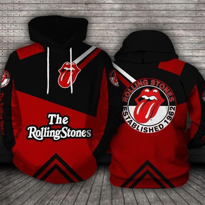 The Rolling Stones Established 1962 Logo 3d Printed Hoodie 3d 3d Graphic Printed Tshirt Hoodie Up To 5xl