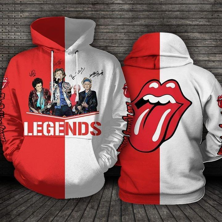 The Rolling Stones Legends Logo Band Signed 3d Printed Hoodie 3d 3d Graphic Printed Tshirt Hoodie Up To 5xl