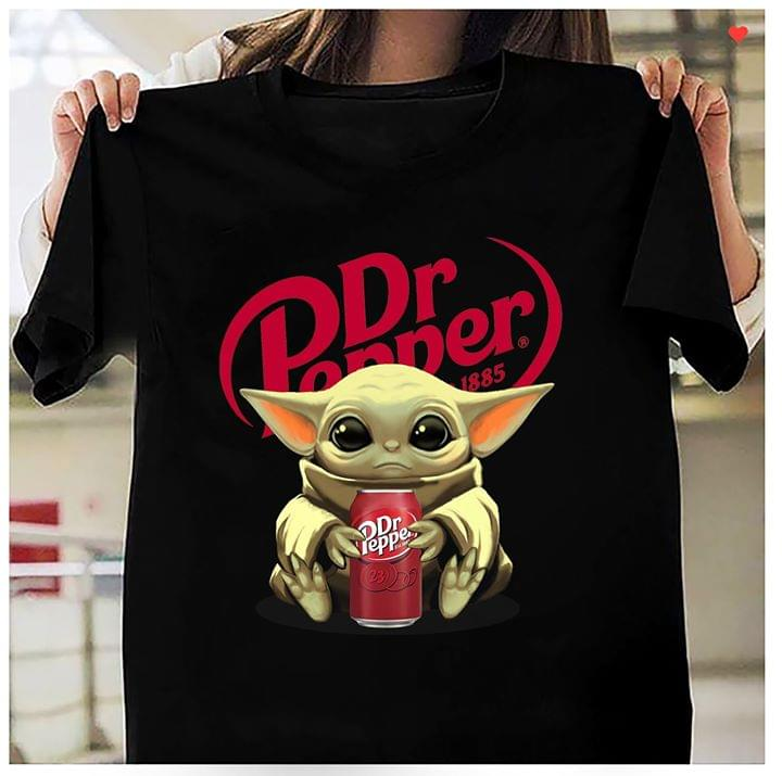 Baby Yoda Mandalorian Loves Dr Pepper Tshirt Hoodie Up To 5xl