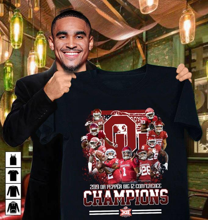 Oklahoma Sooners 2019 Dr Pepper Big 12 Conference Champions Tshirt Hoodie Up To 5xl