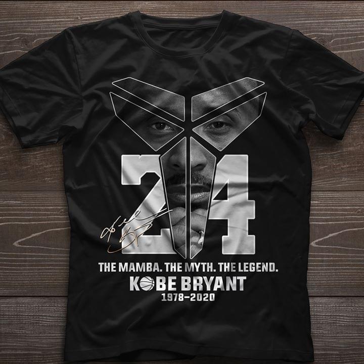 The Mamba The Myth The Legend Kobe Bryant 1978 2020 Signature Tshirt Hoodie Up To 5xl