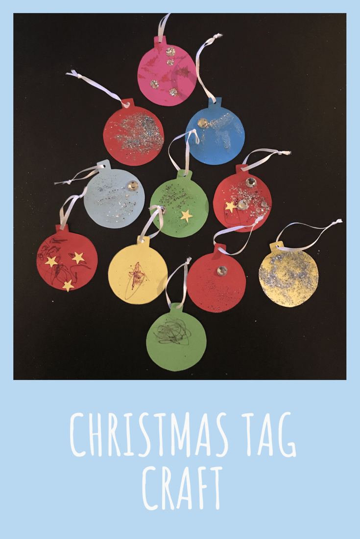 These homemade Christmas tags are an easy way for your toddler to add something personal to this year's gift wrapping.