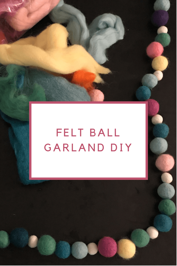 Learn how to make a felt ball garland from wool roving.