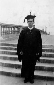 Man in academic gown