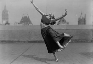 Dancer on NYC roof