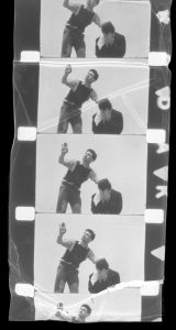 Frames from a film, two men