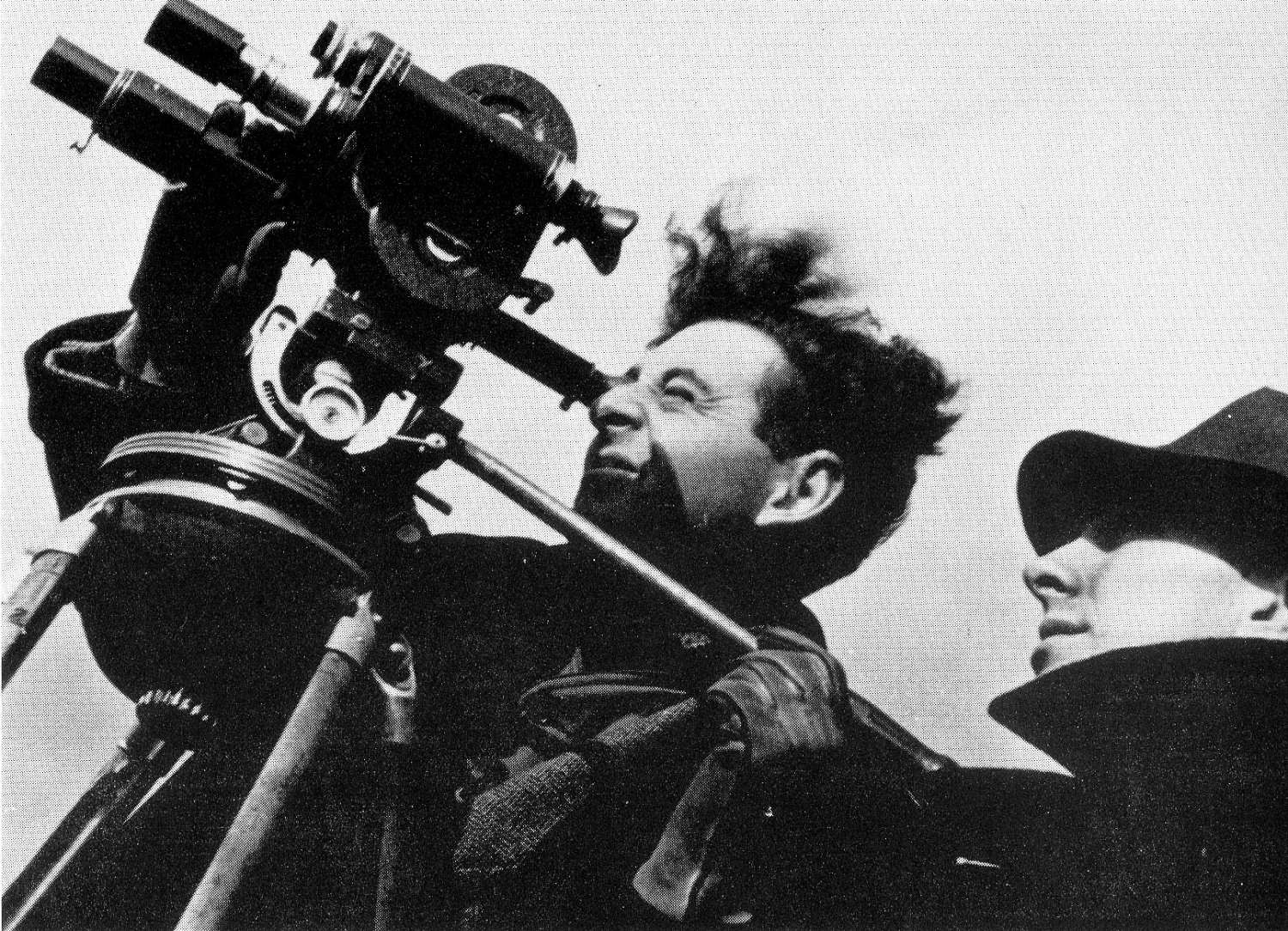 Two men with movie camera