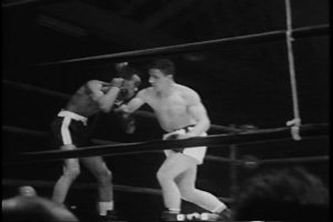 Two boxers in ring