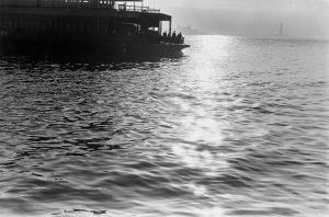 Sun sets on Staten Island Ferry