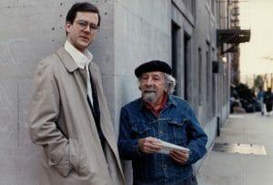 two men on street corner