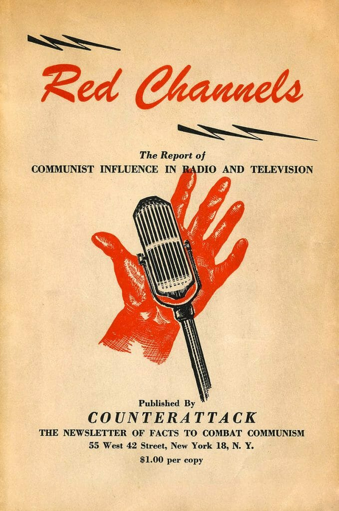 Cover of Red Cheannels. List of Names who were not to be hired.