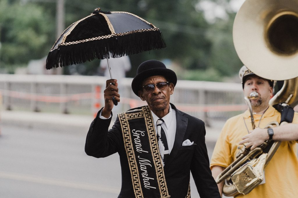 Grand Marshal of the Treme Brass Brand 2018 National Folk Festival Salisbury MD
