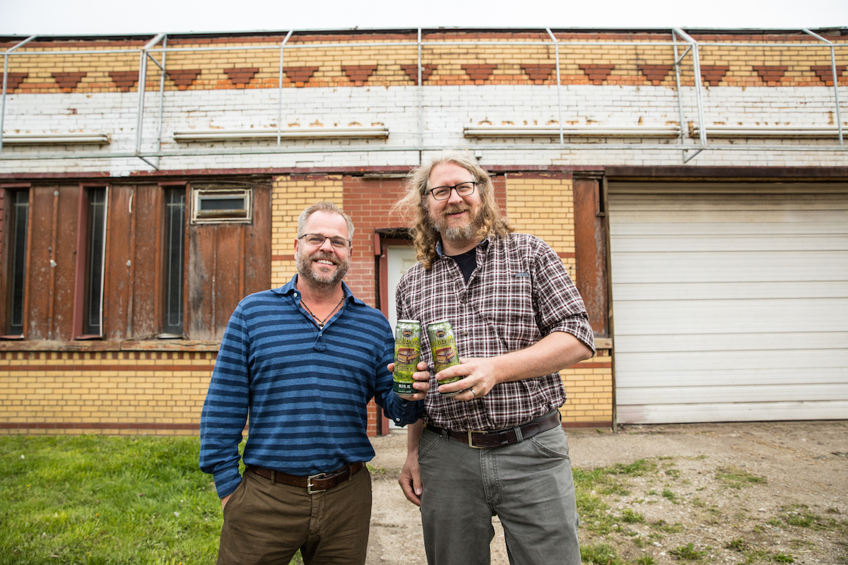 Founders Brewing Co-Founders Mike Stevens and Dave Engbergs