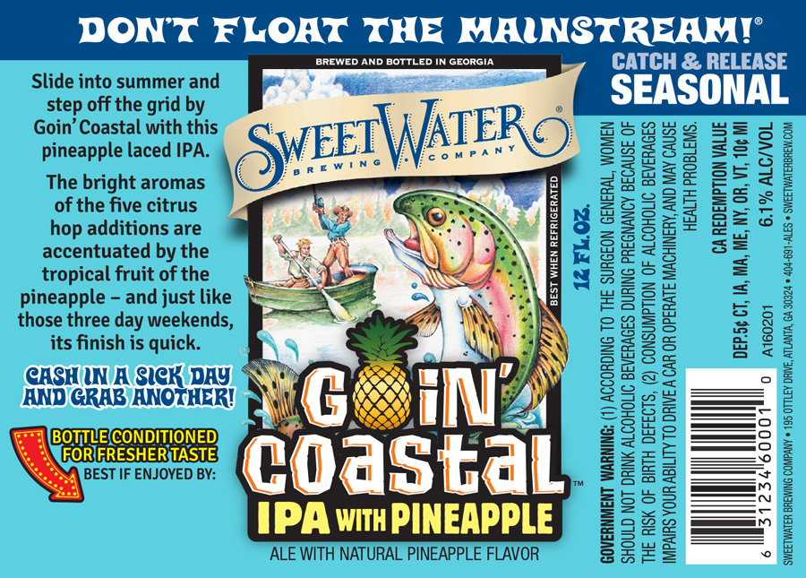 SweetWater Goin' Coastal Label