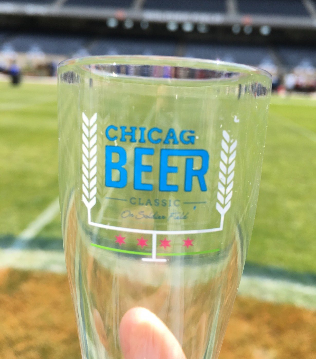 The tasting glass for this year's Chicago Beer Classic. Mine was missing the 'O'