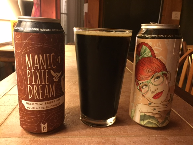 Second Self Brewing MANIC PIXIE DREAM BEER #1—A RUSSIAN IMPERIAL OATMEAL COFFEE STOUT