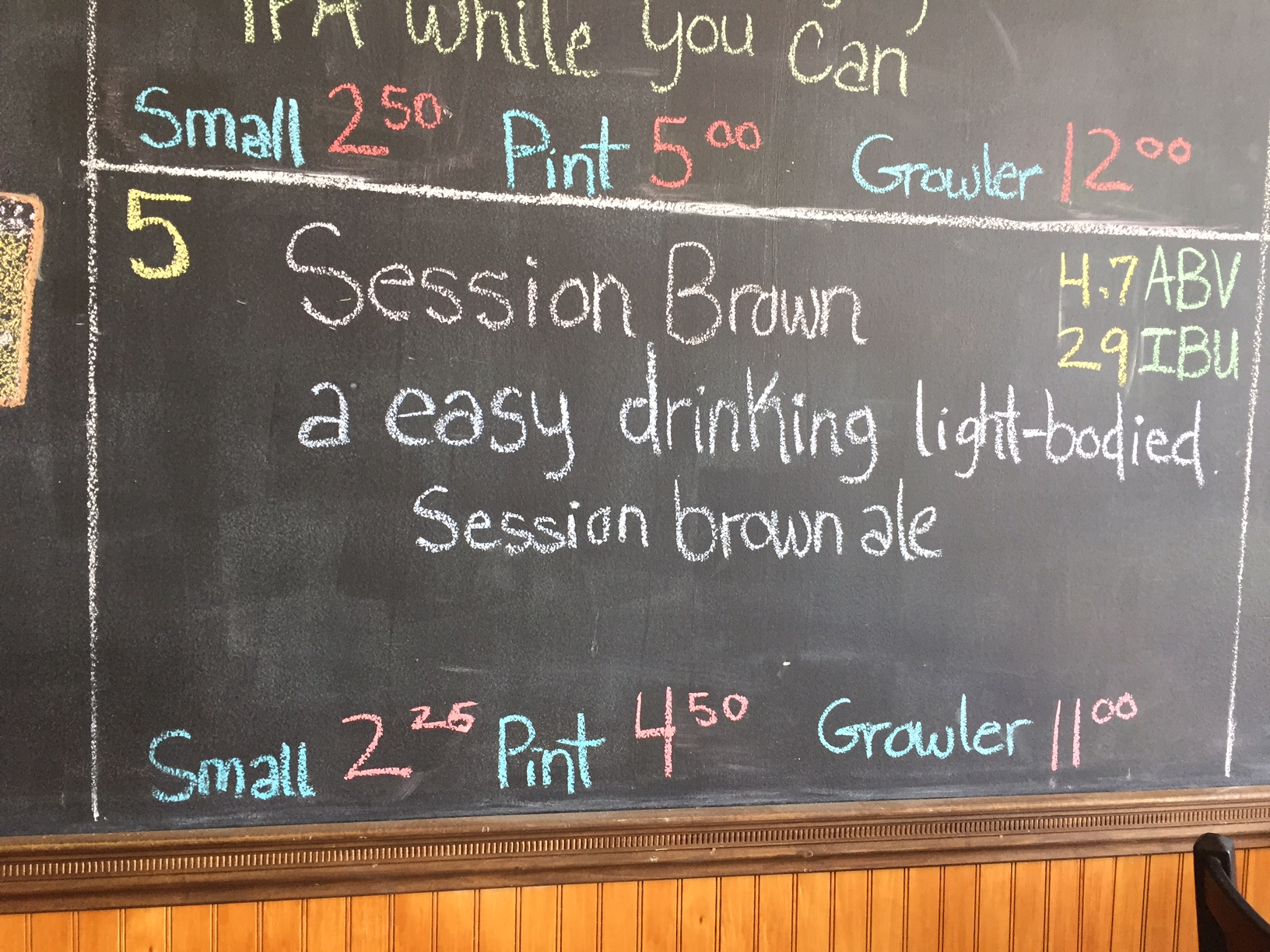 BadWolf Brewing Co Session Brown
