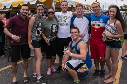 Participants from last year's Microbrew Mile.