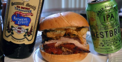 Great American Beer Burger Drink and Spoon