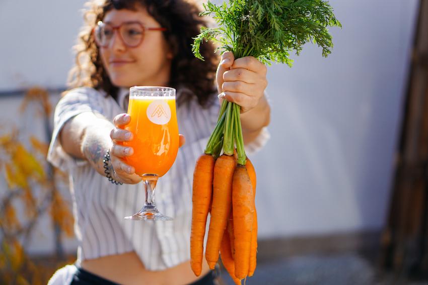 King of Carrot Flowers Carrot Elderflower Saison Ratio Beerworks