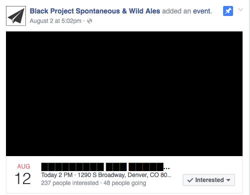 Black Project Facebook Event