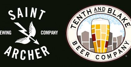 Saint Archer Brewing and Tenth and Blake Beer Company logos side by side