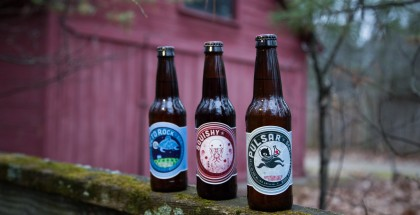 Image of three cider bottles from Starcut Ciders