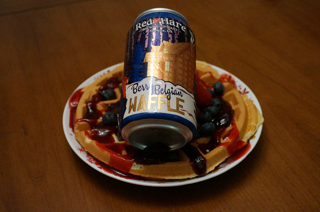 berry belgian waffle can on berries red hare brewing