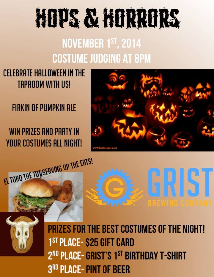 grist brewing company - hops & horrors - dbb - 11-01-14