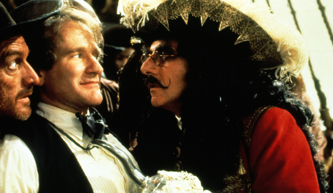 HOOK, Robin Williams, Dustin Hoffman, 1991