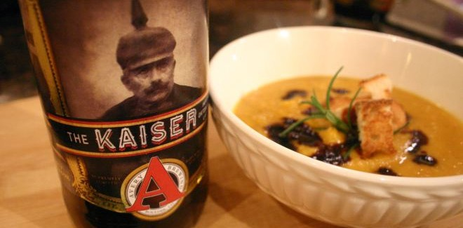 Cooking with Beer | Kaiser Butternut Squash Soup