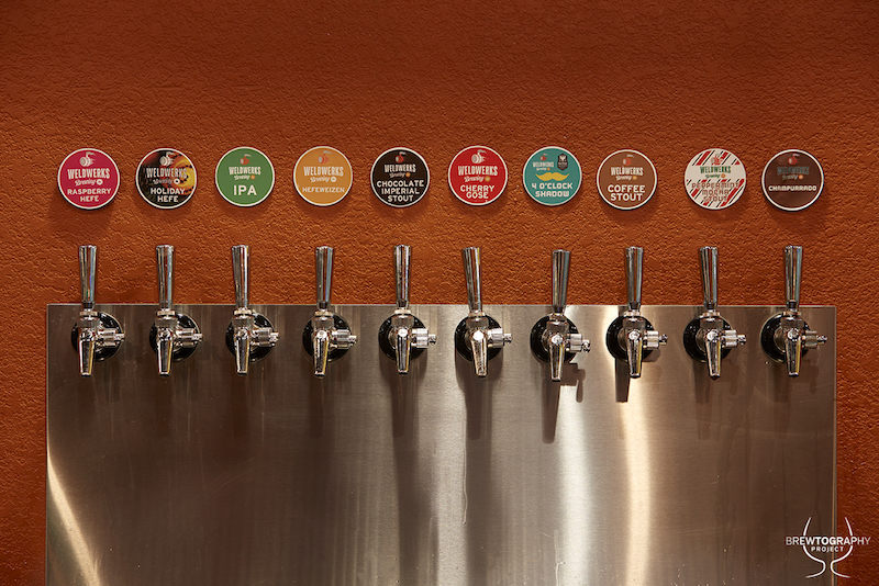 weldwerks brewing tap wall