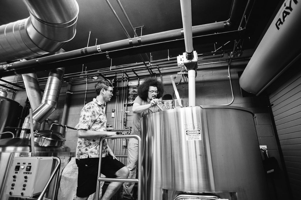 Little Machine Beer the People's Beer Collab Fest Brew Day - Aperture of Ales by Holly Gerard