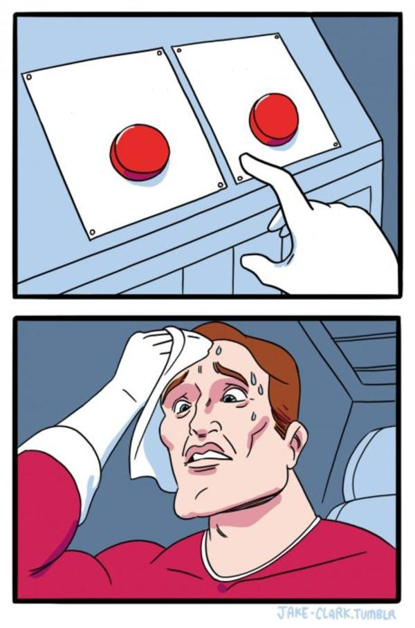 Two Buttons Meme Template And Creator