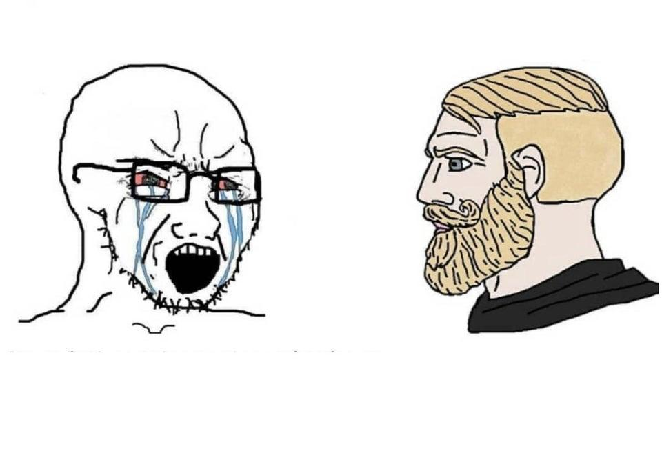 Chad vs Crying Guy - Meme Template and Creator