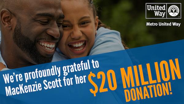 $20 Million gift from Billionaire Philanthropist, Mackenzie Scott!