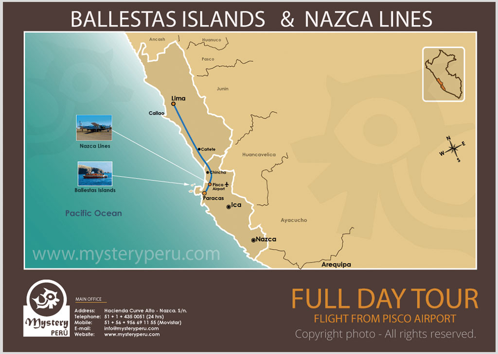Full Day Tour to The Nazca Lines & Ballestas Islands Departing from Lima