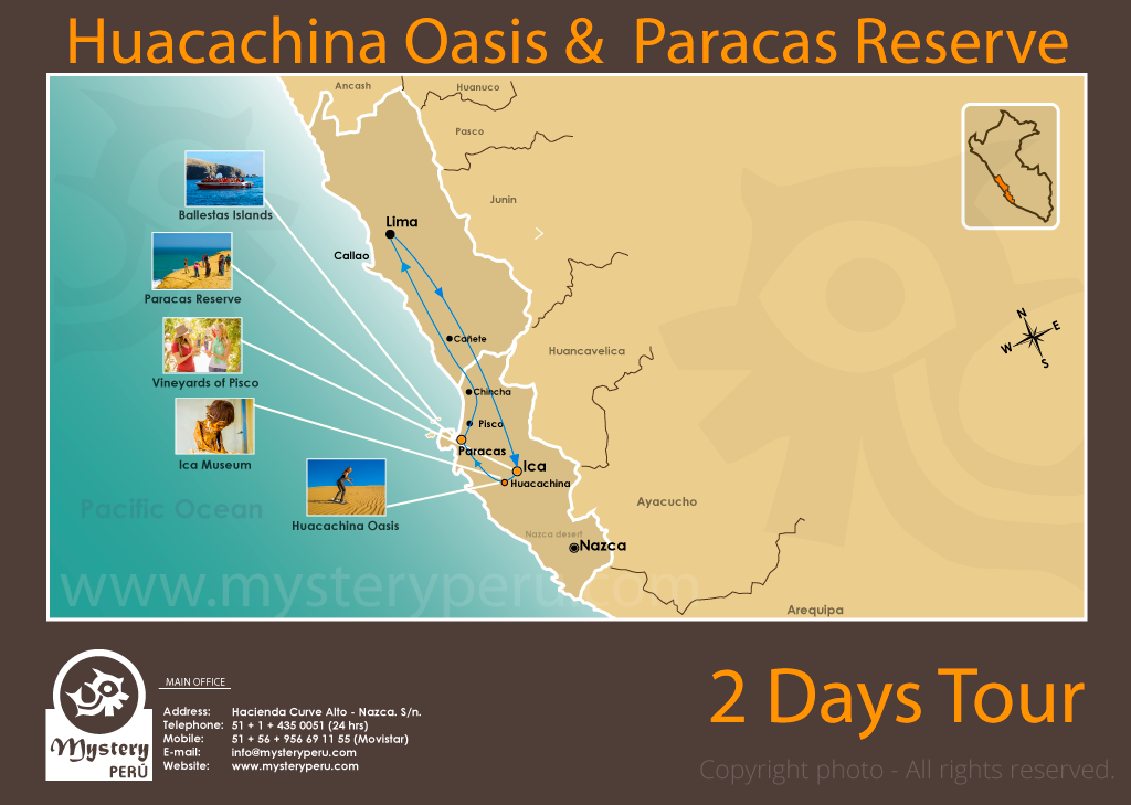 Huacachina Oasis & the Paracas Reserve 2 Days Trip