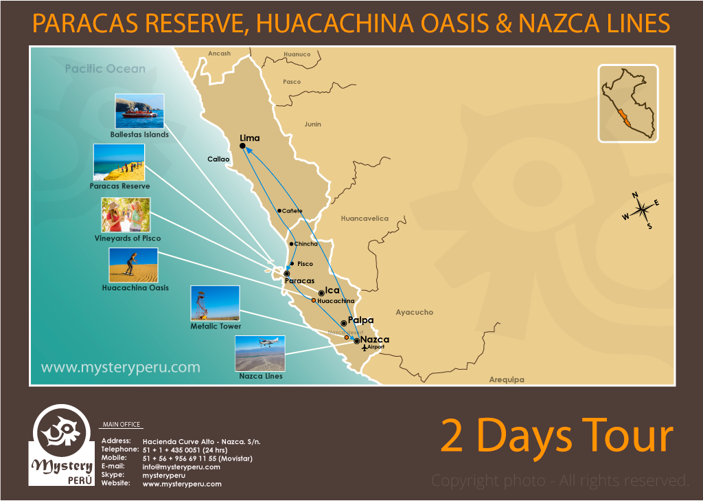 Paracas and Nazca Lines 2 Days Tour from Lima