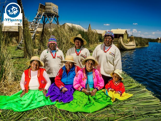 Uros Family on a Lake Titicaca Tour