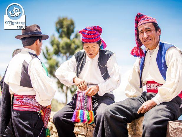 Taquile Men - Mystery Peru Tour.
