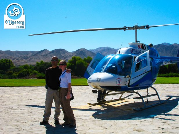 Aerial Tour over the Nazca lines with a helicopter.