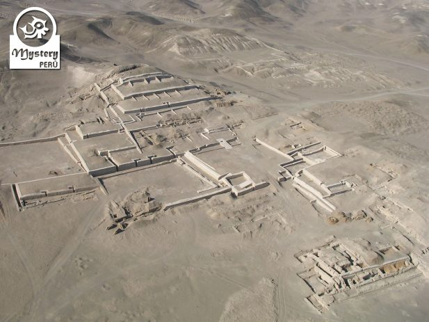 Aerial view of the Pyramids of Cahuachi in Nazca.